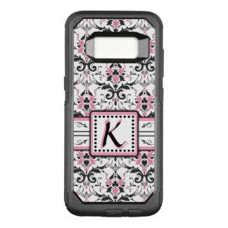 Coque Samsung Galaxy S8 Par OtterBox Commuter Monogramme noir et rose de damassé