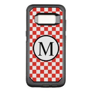 Coque Samsung Galaxy S8 Par OtterBox Commuter Monogramme simple avec le damier rouge
