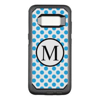 Coque Samsung Galaxy S8 Par OtterBox Commuter Monogramme simple avec le pois bleu