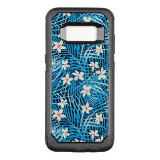Coque Samsung Galaxy S8 Par OtterBox Commuter Motif bleu de palmettes