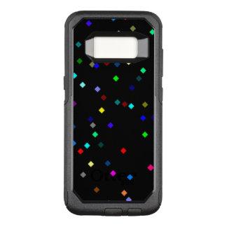Coque Samsung Galaxy S8 Par OtterBox Commuter Motif coloré de carrés sur l'arrière - plan noir