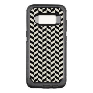 Coque Samsung Galaxy S8 Par OtterBox Commuter Motif en arête de poisson noir et blanc de