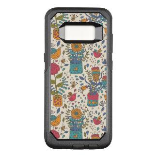 Coque Samsung Galaxy S8 Par OtterBox Commuter Motif floral de bande dessinée avec les oiseaux 2