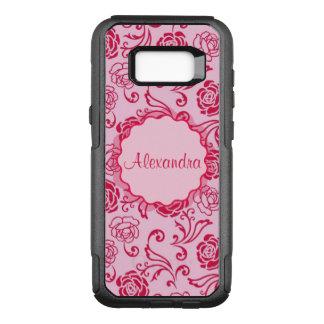 Coque Samsung Galaxy S8+ Par OtterBox Commuter Motif floral de trellis des roses de thé sur le