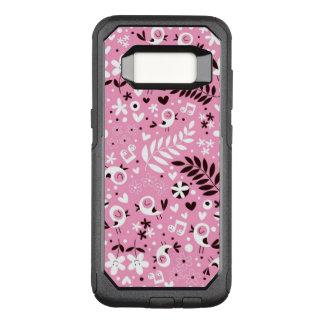 Coque Samsung Galaxy S8 Par OtterBox Commuter motif mignon de rose d'oiseaux et de fleurs