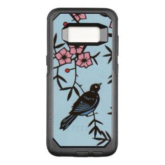 Coque Samsung Galaxy S8 Par OtterBox Commuter Oiseau noir en d'arbre fleurs de rose assez