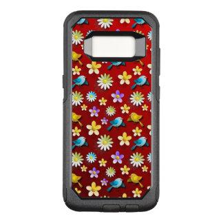 Coque Samsung Galaxy S8 Par OtterBox Commuter Oiseaux et fleurs de printemps rouge