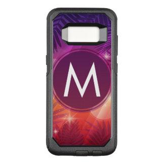 Coque Samsung Galaxy S8 Par OtterBox Commuter Orange pourpre de monogramme de palmiers de