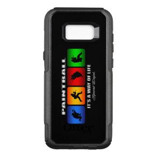 Coque Samsung Galaxy S8+ Par OtterBox Commuter Paintball frais c'est un mode de vie