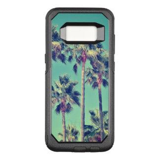 Coque Samsung Galaxy S8 Par OtterBox Commuter Palmiers vintages tropicaux sur Teal