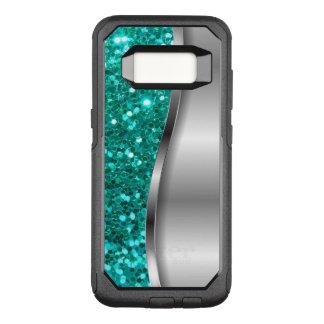 Coque Samsung Galaxy S8 Par OtterBox Commuter Parties scintillantes fraîches de turquoise