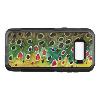 Coque Samsung Galaxy S8+ Par OtterBox Commuter Pêche de truite de Brown, ichtyologie