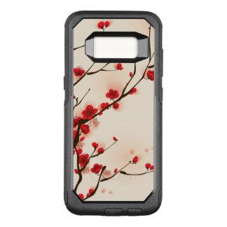 Coque Samsung Galaxy S8 Par OtterBox Commuter Peinture asiatique de style, fleur de prune au