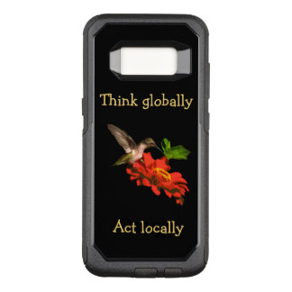 Coque Samsung Galaxy S8 Par OtterBox Commuter Pensez globalement la caisse rouge de la galaxie