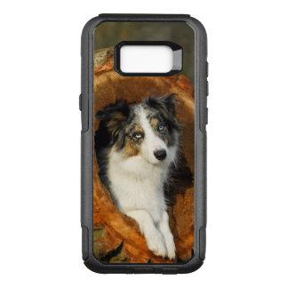 Coque Samsung Galaxy S8+ Par OtterBox Commuter Photo bleue de chien de border collie Merle -