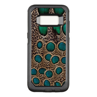 Coque Samsung Galaxy S8 Par OtterBox Commuter Plumes de faisan de paon d'Ombre