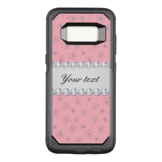 Coque Samsung Galaxy S8 Par OtterBox Commuter Rose argenté chic de flocons de neige de