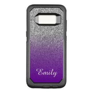 Coque Samsung Galaxy S8 Par OtterBox Commuter Scintillement argenté Ombre pourpre violet