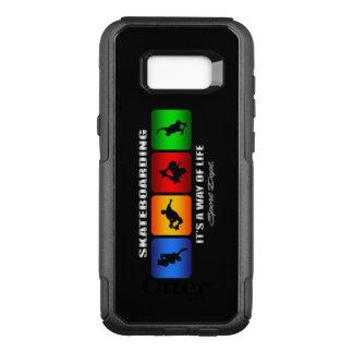 Coque Samsung Galaxy S8+ Par OtterBox Commuter Skateboarding frais c'est un mode de vie