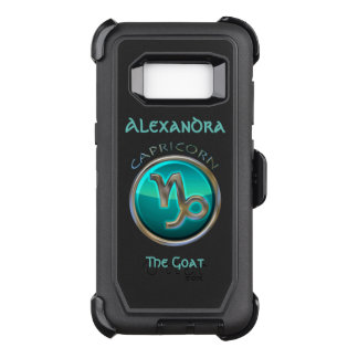 Coque Samsung Galaxy S8 Par OtterBox Defender Capricorne - le signe d'horoscope de chèvre