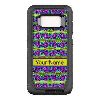 Coque Samsung Galaxy S8 Par OtterBox Defender Motif jaune coloré lumineux de boucles de pourpre
