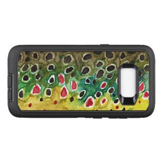Coque Samsung Galaxy S8+ Par OtterBox Defender Pêche de mouche de truite de Brown, ichtyologie
