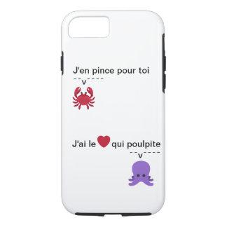 """Coque téléphone """"J'en pince pour toi"""""""