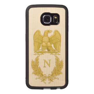 Coque Téléphonique En Bois Emblème de Napoleon Bonaparte