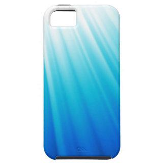 Coque Tough iPhone 5 Bleu blanc léger merveilleux d'aqua d'Ombre