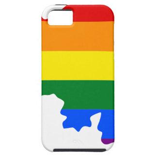 Coque Tough iPhone 5 Carte de drapeau de la Belgique LGBT