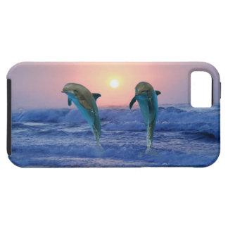 Coque Tough iPhone 5 Dauphin de Bottlenose au lever de soleil