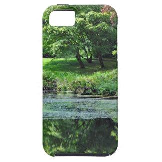 Coque Tough iPhone 5 Étang réfléchi vert