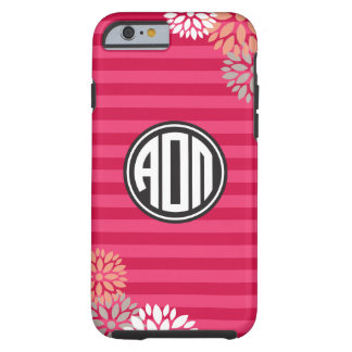 Coque Tough iPhone 6 Alpha motif de rayure de monogramme d'Omicron pi |