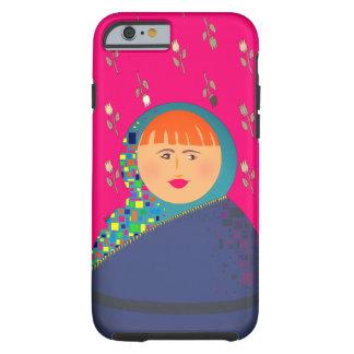 Coque Tough iPhone 6 Arrière - plan floral de motif de femme rouge de