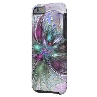 Coque Tough iPhone 6 Art d'imaginaire, abstrait et moderne coloré de