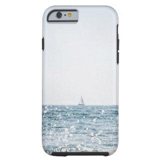 Coque Tough iPhone 6 Bateau à voile sur le cas nautique de paysage