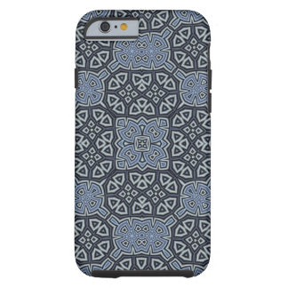 Coque Tough iPhone 6 Bleu abstrait de motif