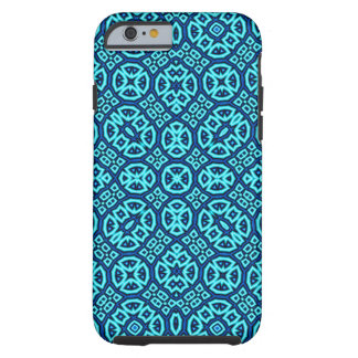 Coque Tough iPhone 6 Bleu abstrait de motif