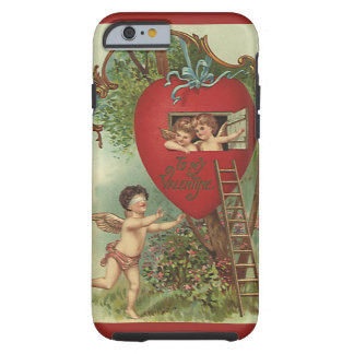 Coque Tough iPhone 6 Cabane dans un arbre victorienne vintage d'anges