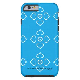 Coque Tough iPhone 6 Caisse bleue de téléphone de coeur
