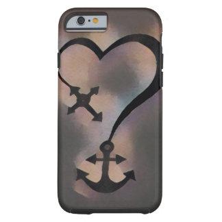 Coque Tough iPhone 6 Cas de l'iPhone 6 d'ancre de coeur