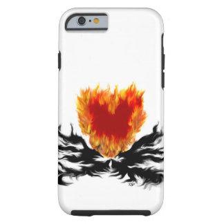 Coque Tough iPhone 6 Coeur en flammes