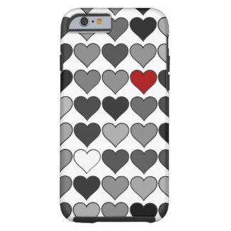 Coque Tough iPhone 6 coeur rouge dans la foule
