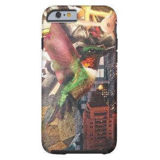 Coque Tough iPhone 6 Collage de steampunk de ville de rouages de