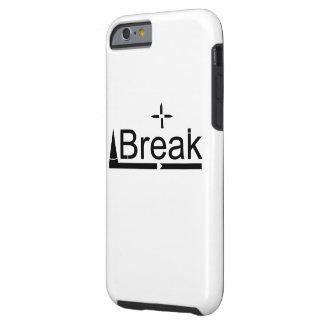 Coque Tough iPhone 6 Conception noire et blanche propre et simple de