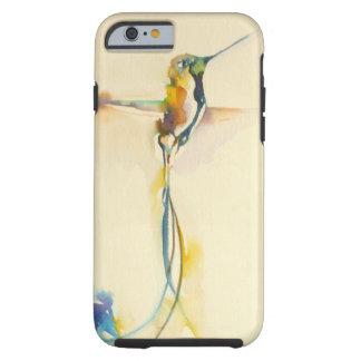 "Coque Tough iPhone 6 Copie de colibri de ""longues queues"" dessus"