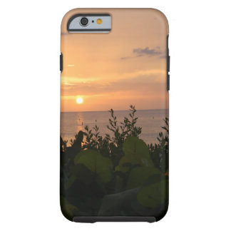 Coque Tough iPhone 6 Coucher du soleil de plage de Bonita