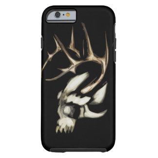 Coque Tough iPhone 6 Crâne avec le cas dur d'Iphone 6 d'andouillers