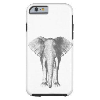 Coque Tough iPhone 6 Éléphant en noir et blanc