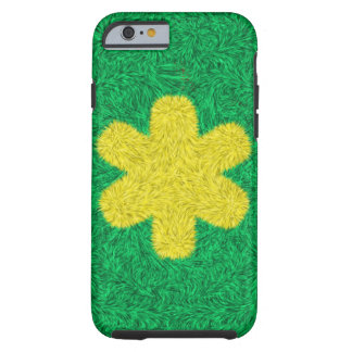 Coque Tough iPhone 6 Fleur jaune sur l'arrière - plan vert